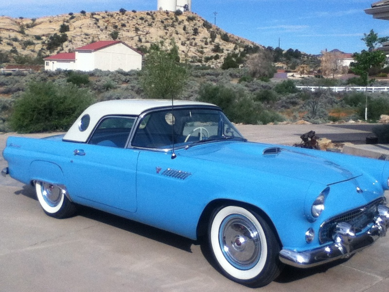 1955 ford thunderbird for sale in st george utah old car online. Black Bedroom Furniture Sets. Home Design Ideas