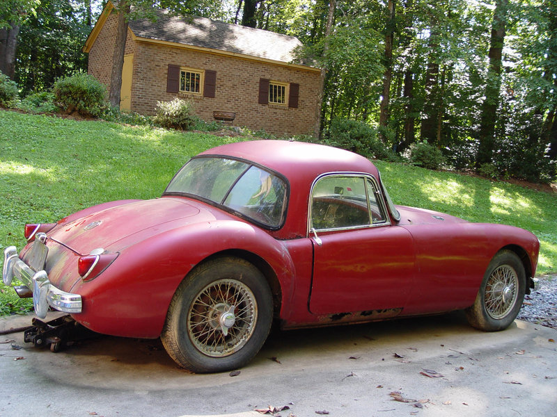 1959 mg mga coupe for sale in lenoir north carolina old car online. Black Bedroom Furniture Sets. Home Design Ideas