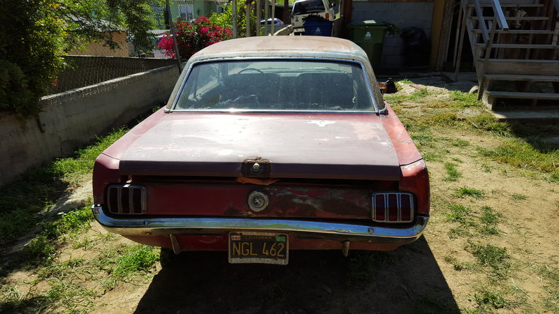 1965 ford mustang for sale in los angeles california old car online. Black Bedroom Furniture Sets. Home Design Ideas