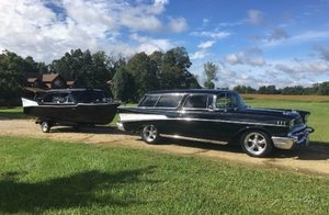 1957 Chevrolet Nomad with Matching Boat