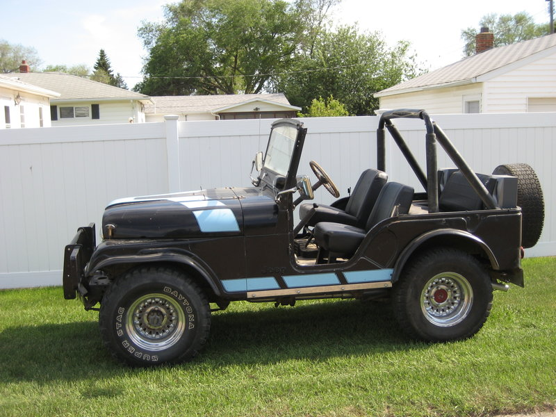 1975 jeep cj5 for sale in culbertson montana old car online. Black Bedroom Furniture Sets. Home Design Ideas