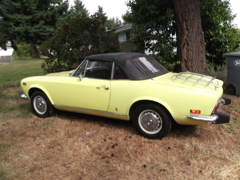 1974 fiat 124 spider for sale in lakewood washington old car online. Black Bedroom Furniture Sets. Home Design Ideas