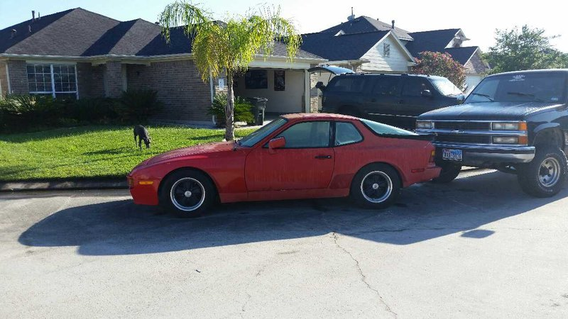 1984 porsche 944 for sale in houston texas old car online. Black Bedroom Furniture Sets. Home Design Ideas