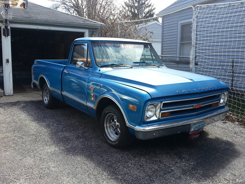 1968 chevrolet c 10 for sale in round lake park illinois old car online. Black Bedroom Furniture Sets. Home Design Ideas