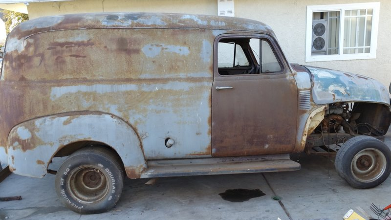 1947 chevrolet early delivery panel truck for sale in san diego  california