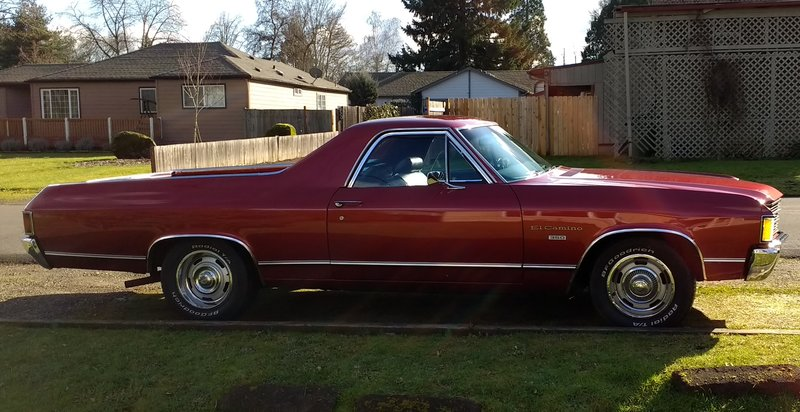 1972 chevrolet el camino custom for sale in salem oregon old car online. Black Bedroom Furniture Sets. Home Design Ideas