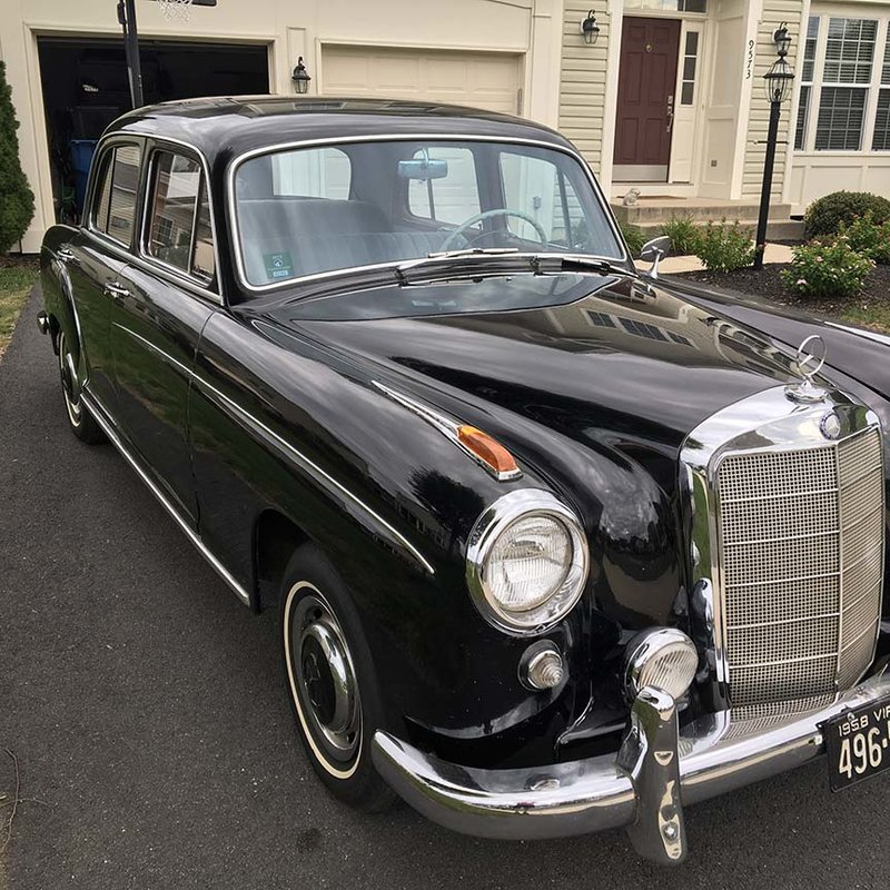 1958 mercedes benz 220s for sale in bristow virginia