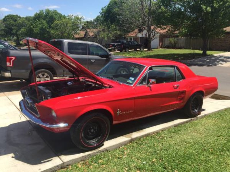 1967 ford mustang for sale in burleson texas old car online. Black Bedroom Furniture Sets. Home Design Ideas
