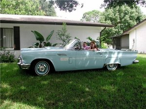 1957 Ford Thunderbird Convertible and hardtop with porthole