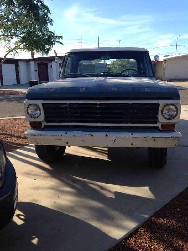 1967 ford f100 for sale in yuma arizona old car online. Black Bedroom Furniture Sets. Home Design Ideas