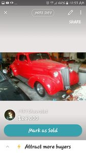 1937 Chevrolet Coupe 2 door